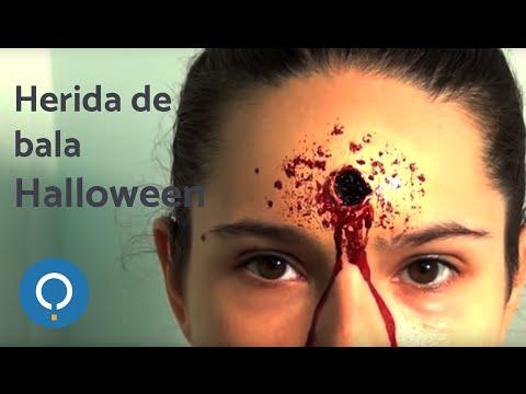 Hacer una herida de bala con maquillaje para Halloween