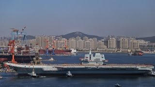 Exclusive: China's first domestically-constructed aircraft carrier Type 001A hits the water