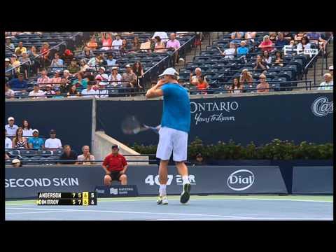 Grigor Dimitrov vs Kevin Anderson ATP Toronto 2014 Quarter Final 2014 part 11