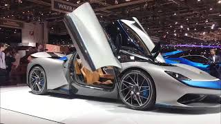 Mahindra's Pininfarina Battista is a 14 Crore car launched at Geneva Motor Show.
