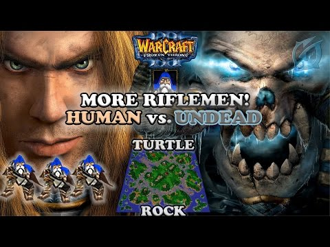 Grubby | Warcraft 3 The Frozen Throne | Human vs. Undead - More Riflemen! - Turtle Rock