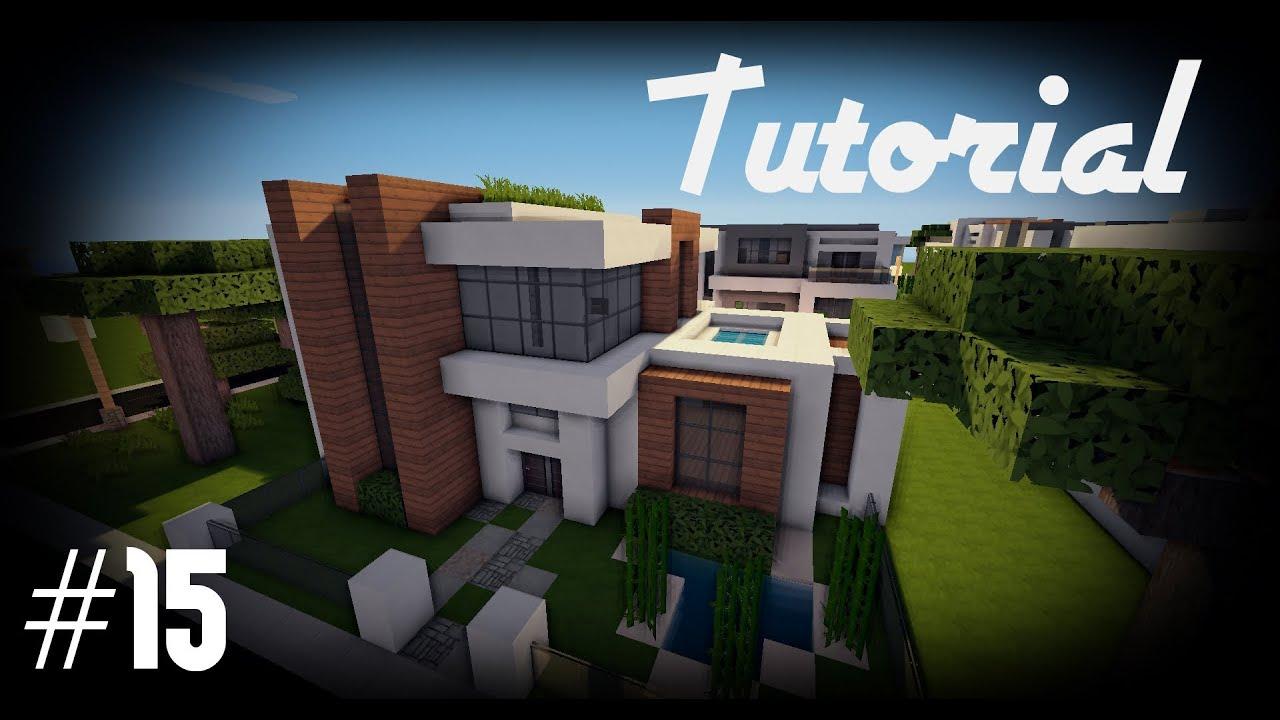 Minecraft como hacer una casa moderna 15 youtube for Como aser una casa moderna y grande en minecraft