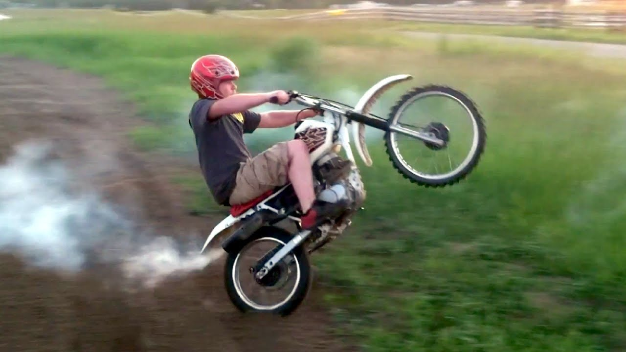 Honda XR100 Insane Motocross Goon Riding - YouTube