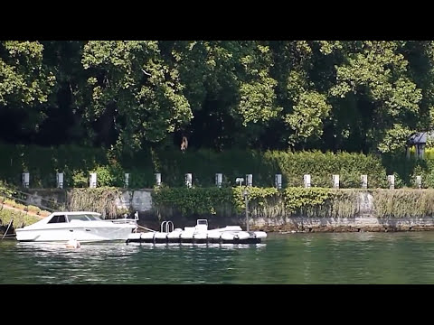 Visit Lake Como Italy video shot today of George Clooney's House Villa Oleandra
