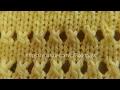 Вязание спицами. Ажурный узор.