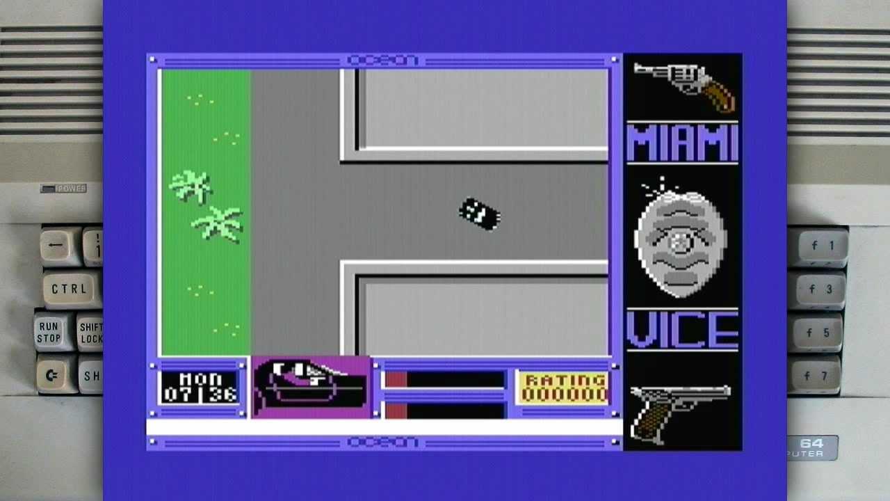 Miami Vice on a Commodore 64