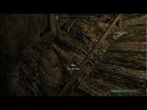 Skyrim - Notched Pickaxe (Skyrim easter egg). Ebony ores and how to mine faster!