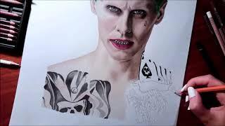 Speed Drawing: The Joker - Jared Leto in Suicide Squad | Jasmina Susak