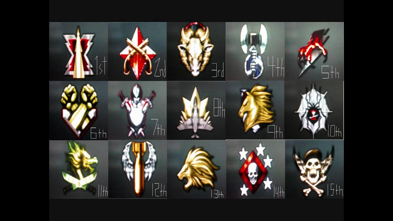 Black Ops Prestige Emblems 1-15 Call of Duty Black Ops All
