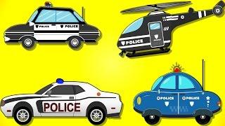Police Car | Learn Vehicles | Car Videos | Nursery Rhymes | My Little TV