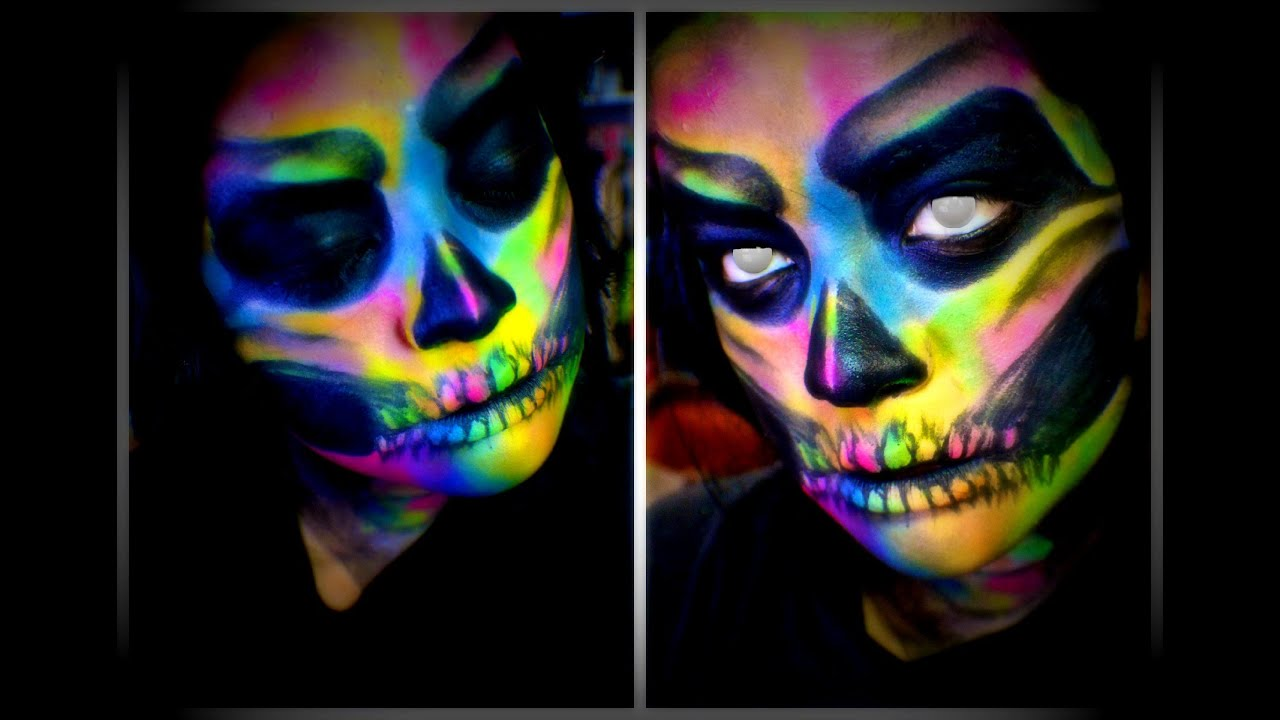 How To Make Glow In The Dark Face Paint Easy
