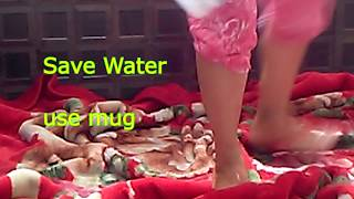 DOUBLE BED BLANKET DRY CLEANING AT HOME/NO BACK PAIN WASHING/Blanket washing