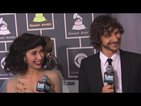 Gotye and Kimbra on Grammy Red Carpet - Grammy Awards 2013