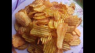 Crispy Potato Chips recipe in Hindi/Potato Chips/Lays/Snacks special/Chips in 5 mins