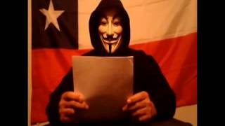 COMUNICADO ANONYMOUS A CHILE  OP2012