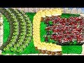 Plants vs Zombies 9999 Gatling Pea vs All Football Zombie