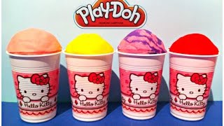 Play Doh Ice Cream Cups! Surprise Toys Playdough Videos for Children - Part 1