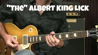 Blues Guitar Lesson The Albert King Lick