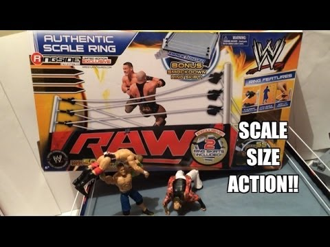 WWE ACTION INSIDER: Authentic Scale Ring for Mattel Wrestling Figures by Wicked Cool Toys Review!