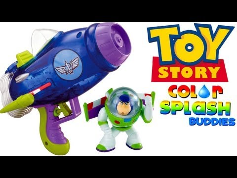 Aqua Blast Spaceship Color Changers Splash buddies Buzz Lightyear Toy Story water-gun