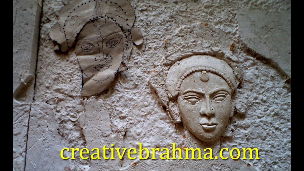Making 3d wall murals in hydearbad gypsum plaster for 3d mural painting tutorial