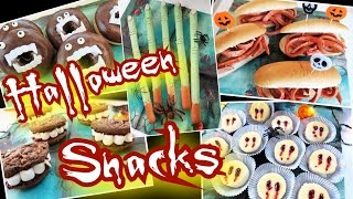 5 einfache🎃HALLOWEEN PARTY SNACKS👻gruselig & lecker🎃Fingerfood