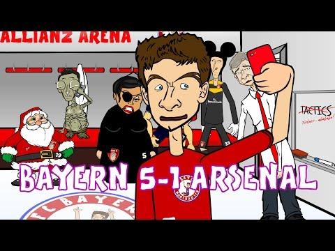 Bayern Munich 5-1 Arsenal (Champions League 2015 Parody Goals Highlights)
