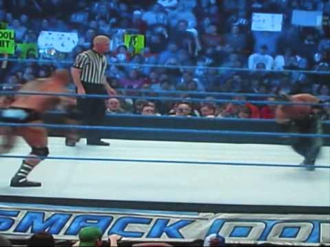 WWE Spear by Batista.
