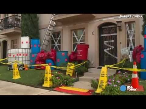 Too soon? Ebola-themed Halloween decor in Dallas