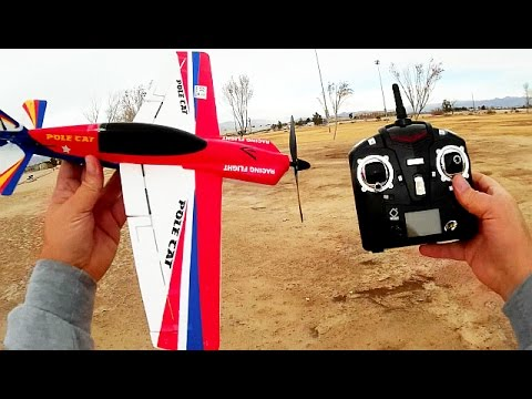 WLToys F939 RTF Gyro Stabilized 4 channel RC Airplane Flight Test Review