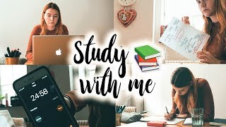 STUDY WITH ME: meine tägliche Lernroutine // get productive with me