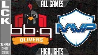 BBQ vs MVP Highlights ALL GAMES   LCK Summer 2018 Week 1 Day 1   BBQ Olivers vs MVP