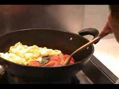 Egg Fried Tomato - Traditional Chinese Dish