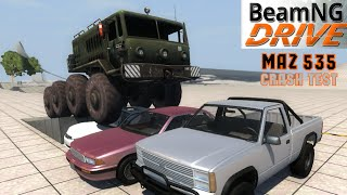 BeamNG DRIVE CRASH TEST mod truck MAZ 535
