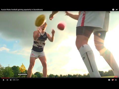 Aussie Rules football gaining popularity in Scandinavia