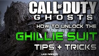 Call of Duty: Ghosts - How to unlock the GHILLIE SUIT - Tips & Tricks