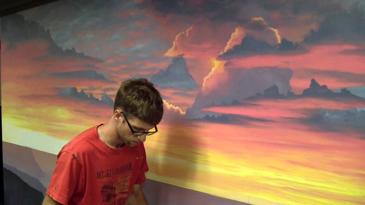 How To Paint A Sunset Cloud Youtube