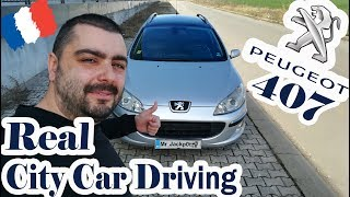 PEUGEOT 407  /real city car driving/ POV #2