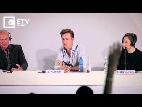 Edward Norton on Birdman and Ryan Golsing, Birdman Press Conference (2014 Venice Film Festival)