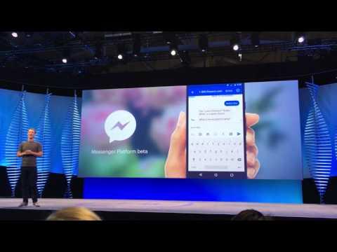 Mark Zuckerberg Demos Facebook Messenger Platform for Brands