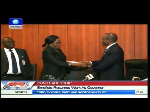 CBN Leadership: Emefiele Resumes Work AsGovernor
