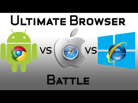 Ultimate Tablet Browser Battle - Windows 8 IE10 VS Android & Chrome VS iOS & Safari