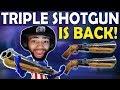 TRIPLE DOUBLE BARREL SHOTGUN | TRIPLE SHOTTY IS BACK!  -(Fortnite Battle Royale)