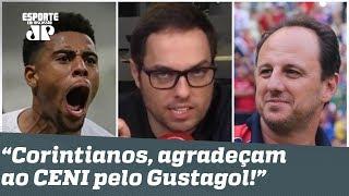 """""""Corintianos, agradeçam ao CENI pelo Gustagol!"""", DISPARA repórter"""