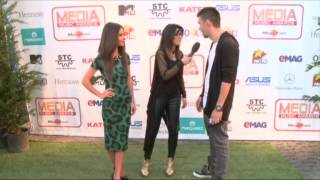 Vescan si Mellina - interviu pe covorul verde la Media Music Awards 2014!