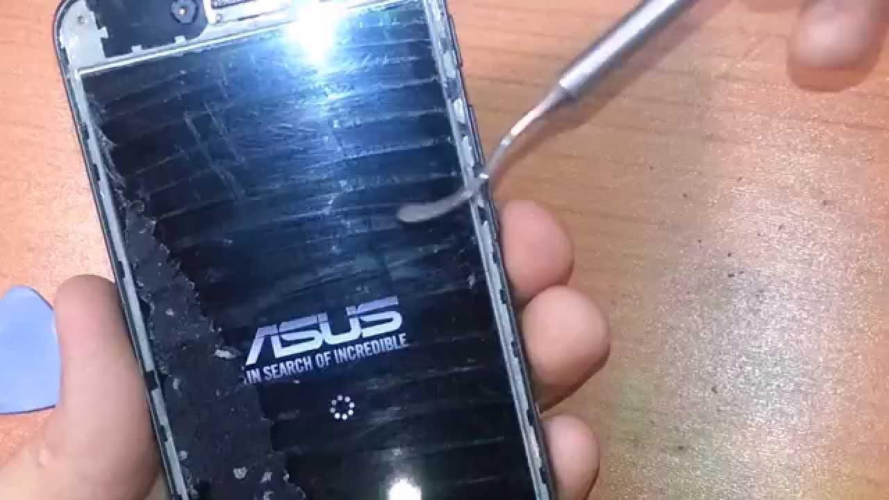 Asus PadFon S замена стекла на самодельном сепараторе ! FunnyDog.TV