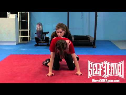 Turtle Guard Break: Beginner Women's MMA Wrestling Technique Image 1