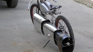 """SUPER COOL"" Twin PULSEJET JET POWERED ROCKET BIKE Maddoxjets.com"