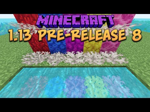 Minecraft 1.13 Update Pre-Release 8 New Coral Fan Blocks! New Impermeable tag!