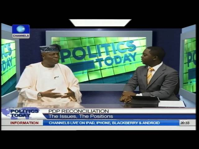 PDP Reconciliation Fracas: Ogunlewe Blames Governors For Party Crisis PT1